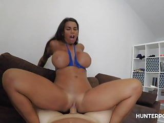 The busty Chloe Lamour in point of view