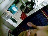 Australian mature caught taking a bath