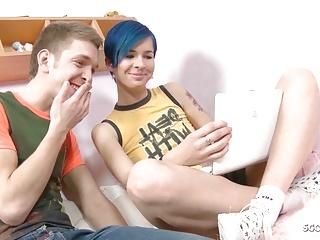 blue hair skinny step sister lost virgin by big cock brotherPorn Videos
