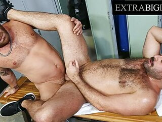 Riley Mitchel's Huge Cock Sucked By Muscled Latino