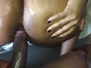 Big ebony booty anal...