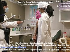 Minnie Rose Strip Searched By Maya Farrell & Gyno Doctor Tampa