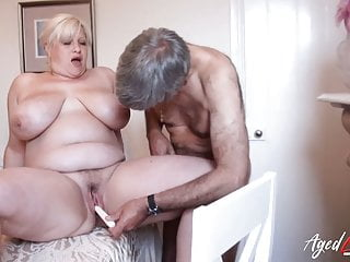 AgedLovE Crazy Busty Old Husband Drilling