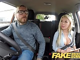 Fake Driving School Busty blonde is cum hungry on test