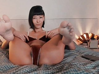 Feet in face reverse cowgirl feet no sound...
