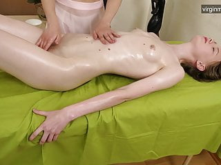 Russian beauty Domna Svistok gets massaged until she orgasms
