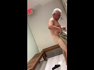 Grandpa in the gym changing room – spy hidden camera