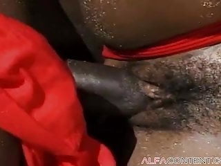 Hot ebony slut enjoys some big black dick...