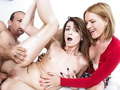 Skinny Teenage Daughter-in-law Gets Buttfuck Instructing From Stepparent And Mom