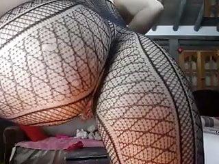 Butt dripping wet in lingerie...