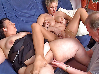 BBW a Mature younger couple threesome for invite