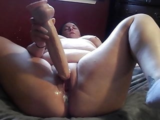 Holy BBW shit!! Plows creamy cum THICK herself to a