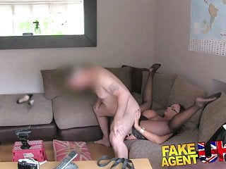 Fakeagentuk british chick with massive tits gives anal...
