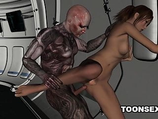 Hot Fucked Fingered Alien by an 3D and Babe