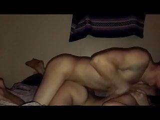 Boyfriend demolishes his eyed girlfriends pussy...