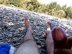 Masturbation near the river