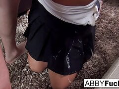 After her date Abigail Mac treats the guy to a blow job