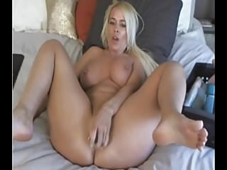 Busty MILF plays with dildo - Add her on Snapcht: RubySuce