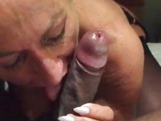 Slut loving black dick mouth...