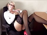 Busty and Horny Secretary Gests Huge Facial from Boss