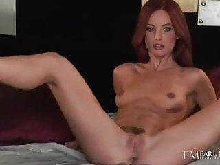 Striptease Redhead High Heels video: All Natural Beauty Riley Shy Finger Fucks Herself To Orgasm!