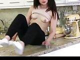 Hot cute bitch filled up with cum. Cum in pussy. Creampie