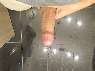 Uncut cock huge cumshot