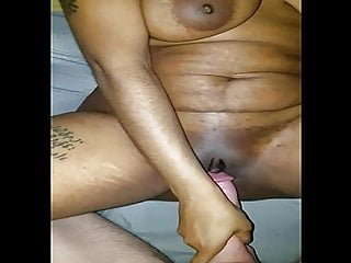 Black gal in missionary position...