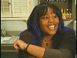 black fat woman in interraccial action