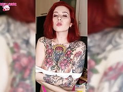 Sexy Girl in Cute Lingerie Play Pussy in Kitchen - Solo