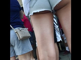 Epic Street Cheeks Jean Shorts ( Candid Ass)