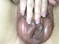 RUBBING PUMPED WET PUSSY