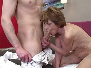 Grandma teaching how 2 woman...