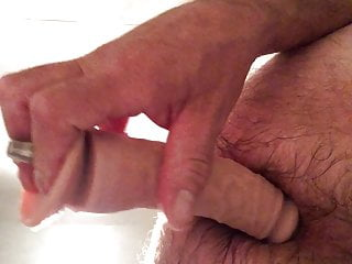 A double cock dildo in my gaping asshole