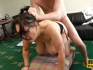Milf roughly fucked doggystyle...