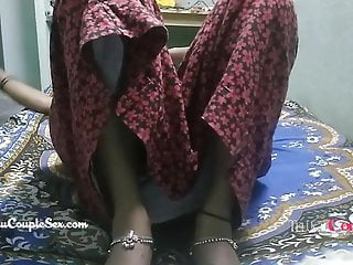 Desi telugu indian wife naked fucked on floor...