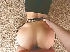 Big Ass Teen Gets Fucked In Wet Pussy. Homemade POV Video