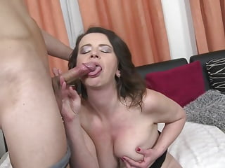 Taboo sex with busty mother and lucky son