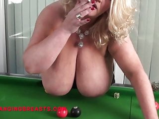 Busty nicole hangs out her huge tits...