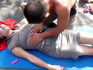 outdoor orgasmic massage with upskirt