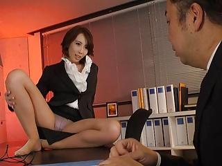 Japanese office lady Aya Kisaki had sex  uncensored