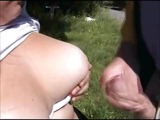 Young mother sucking me in public...
