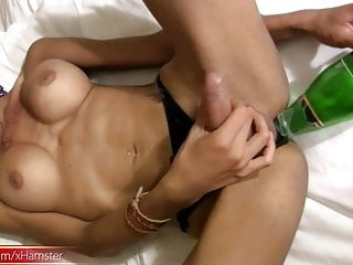 Bigtitted inside her gaping anal hole...