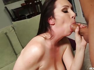 Hot busty MILF squirting and getting a hard fucking