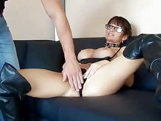 Milf in leather boots sex...