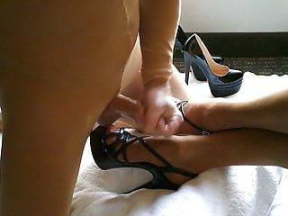 nylon, heels, cum on feet
