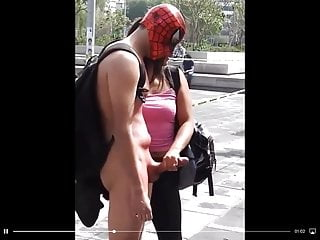 Spider man jerked off