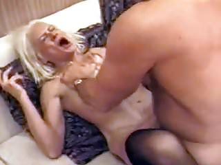 Squirting granny takes rough fucking...