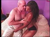 Old dude gets lucky with a big tis ebony