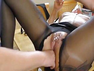 Amateur pierced mature amp squirting...